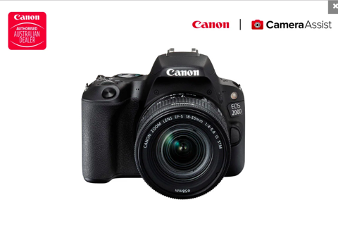 Canon EOS 200D DSLR Camera with EFS18-55mm f/4-5.6 IS STM Lens
