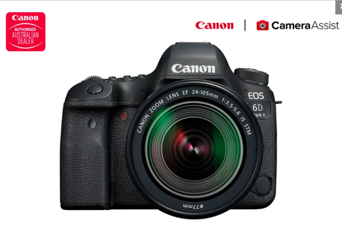 Canon EOS 6D Mark II DSLR Camera with EF24-105mm IS STM Lens