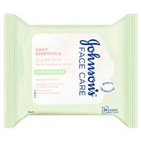 Johnson & Johnson Face Care Oil Balancing Facial Cleansing Wipes For Combination Skin 25 Pack