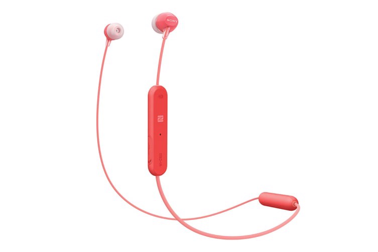 Sony Entry In-Ear Headphone with Bluetooth - Red (WIC300R)