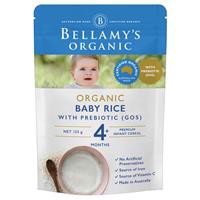 Bột ăn dặm Bellamy's Organic Baby Rice with Prebiotic 125g