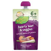 Raffertys Garden 6 Months Hearty Beef & Veggie Puree 120g