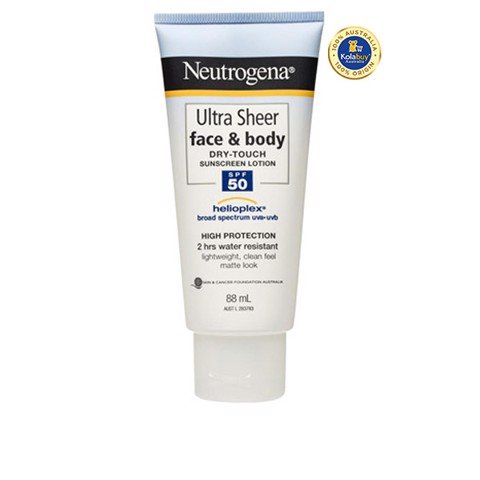 Kem chống nắng Neutrogena Ultra Sheer Face & Body Dry Touch Sunscreen Lotion SPF50 88mL