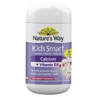 Kẹo dẻo bổ sung canxi Nature's Way Kids Smart Calcium + Vitamin D 50 Chewable Capsules