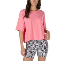 BRUSH OFF STRAWBERRY PINK SHORT SLEEVE TOP