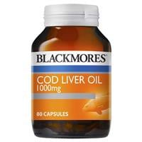 Blackmores Cod Liver Oil 1000mg 80 Capsules