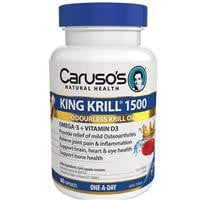 Carusos Natural Health King Krill 1500mg 60 Capsules