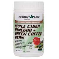 Healthy Care Apple Cider Vinegar + Green Coffee Bean 120 Capsules