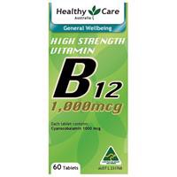 Healthy Care B12 1000mcg 60 Tablets