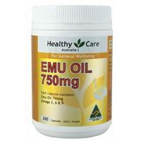 Healthy Care Emu Oil 750mg 300 Capsules