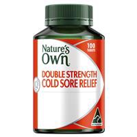 Nature's Own Double Strength Cold Sore Relief L-Lysine 1000mg 100 Tablets
