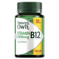 Nature's Own High Strength Vitamin B12 1000mcg 120 Tablets Exclusive Size