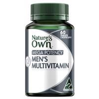 Nature's Own Mega Potency Men's Multivitamin 60 Tablets