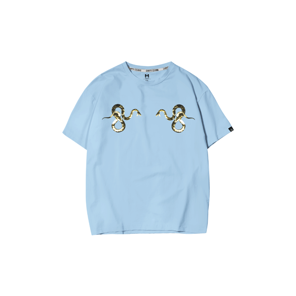 T-shirt with snake ( Baby Blue )