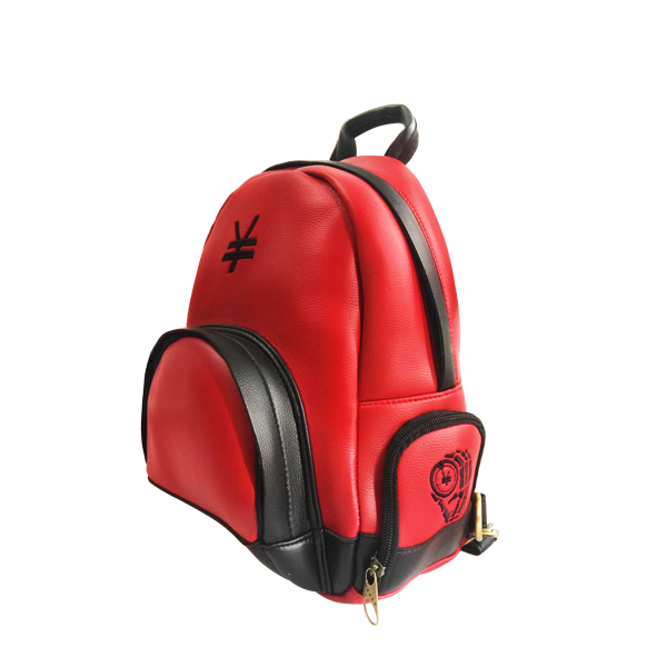 'Dirty Coins' minimal backpack  ( Red )