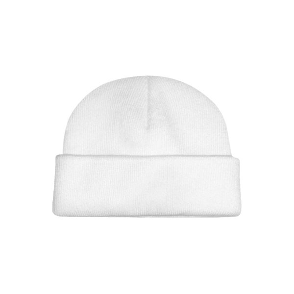 Basic beanie hat (White)