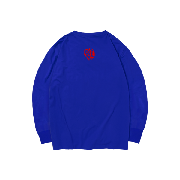 'Dirty Coins' long sleeve with big logo ( Blue )