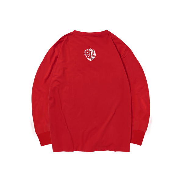 'Dirty Coins' long sleeve with big logo ( Red )