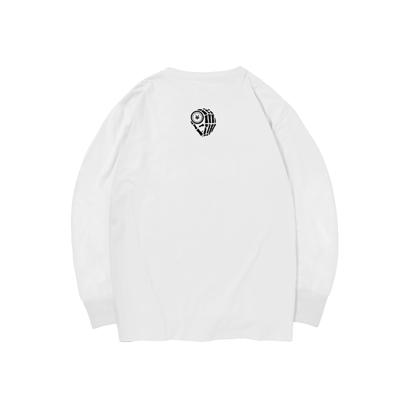 'Dirty Coins' long sleeve with big logo ( White )