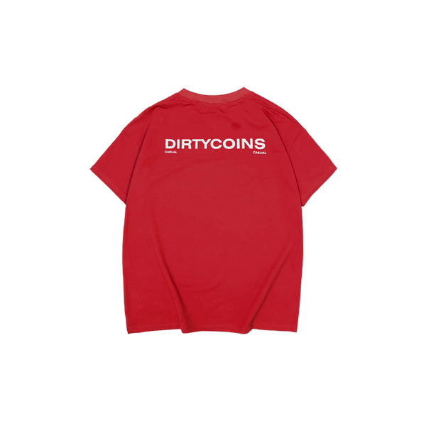 'Dirty Coins' Casual t-shirt (Red)