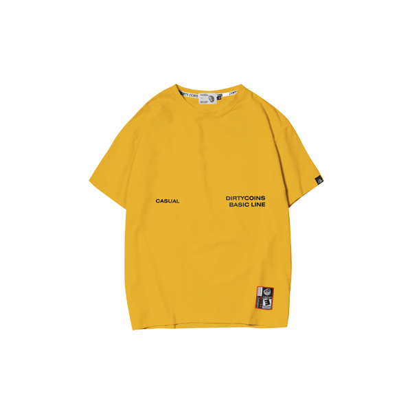 'Dirty Coins' Casual t-shirt (Yellow)