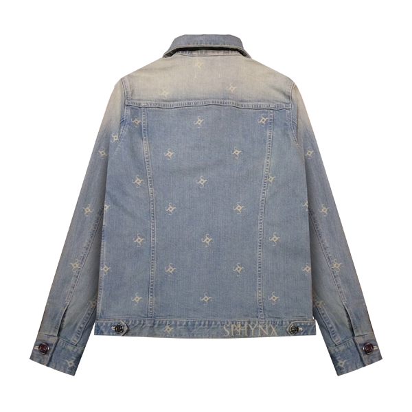 'Sphynx' logo denim jacket