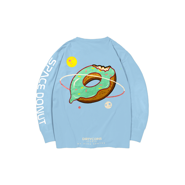 Space donut long sleeve (Baby blue)
