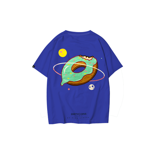 Space donut T-shirt (Navy Blue )