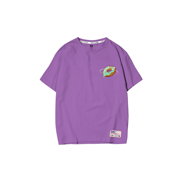 Space donut T-shirt (Purple)