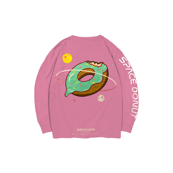 Space donut long sleeve ( PinK )