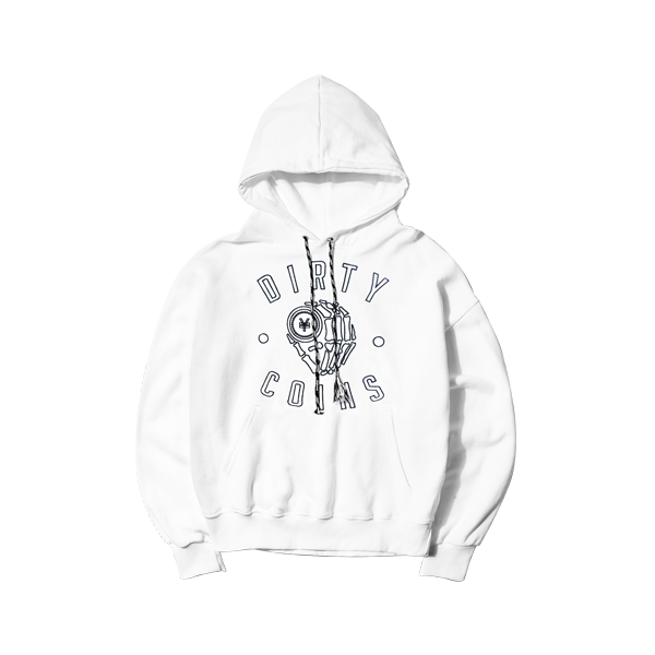 'Dirty Coins' logo hoodie ( White )