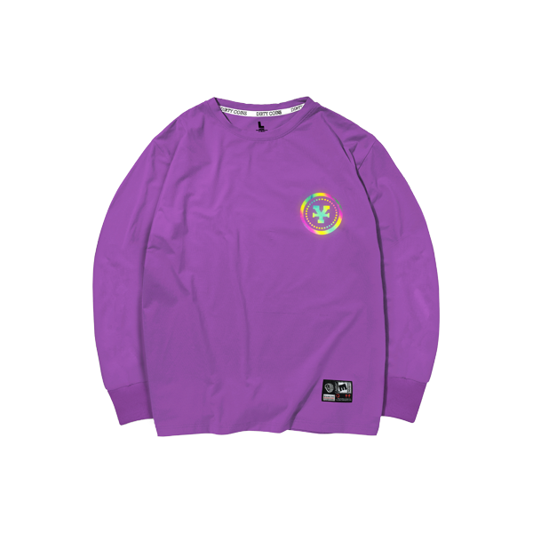 'Dirty Coins' Long sleeve hologram (purple)