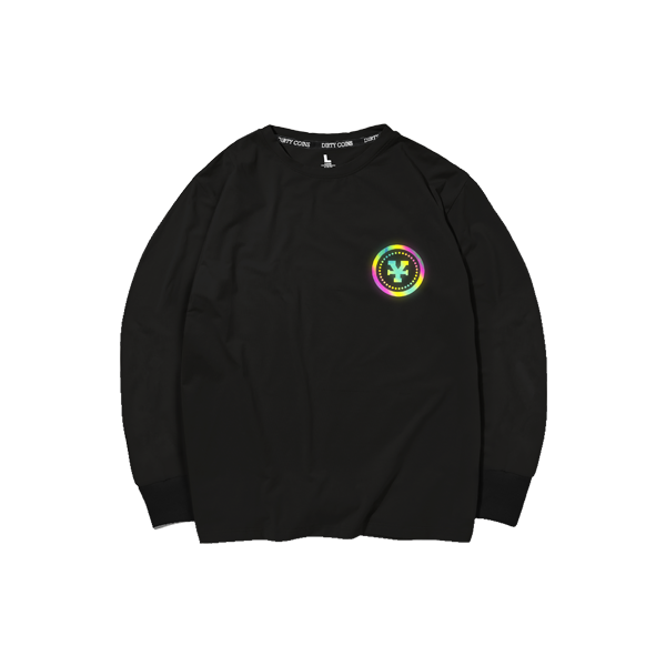 'Dirty Coins' Long sleeve hologram (Black)