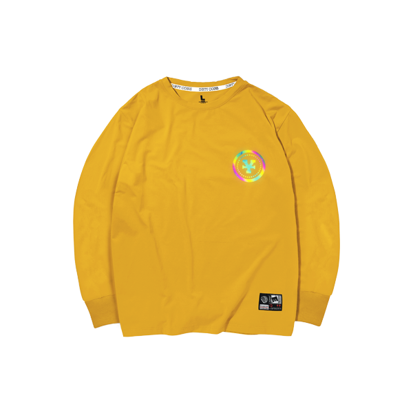 'Dirty Coins' Long sleeve hologram (Yellow)