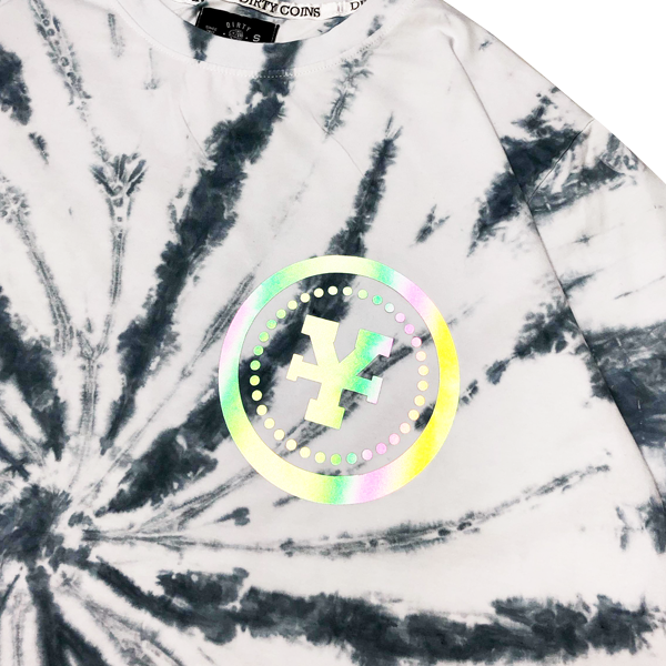 'Dirty Coins' Mercury tie-dye t-shirt