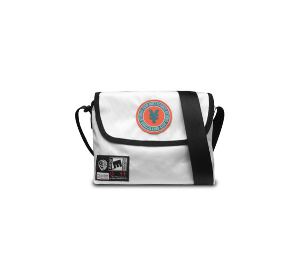'Dirty coins' messenger bag