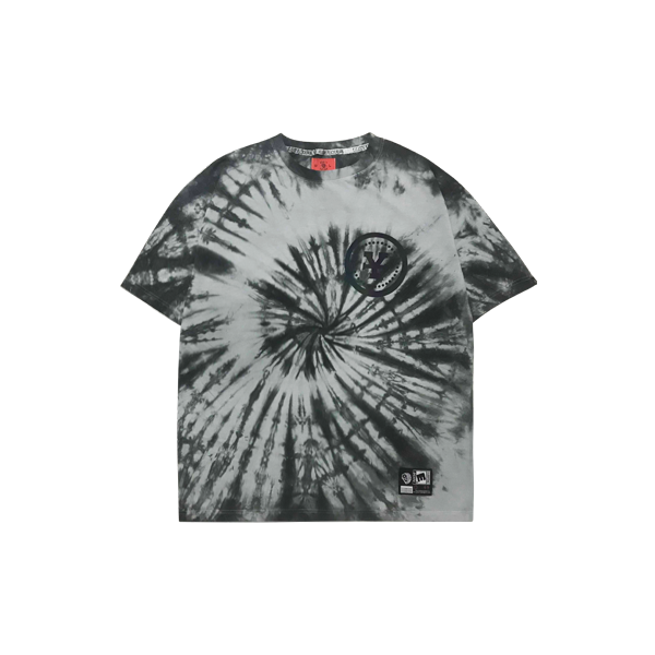 'Dirty Coins' Moon tie-dye T-shirt
