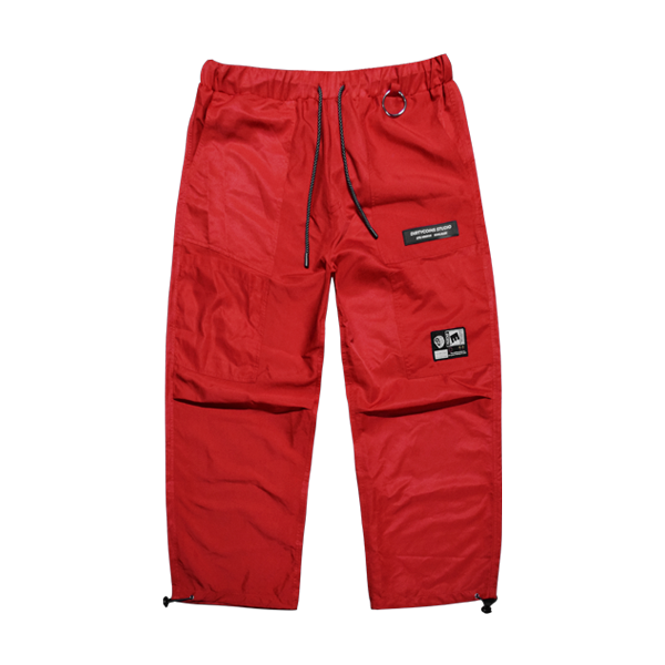 'Dirty coins' shine pants (red)