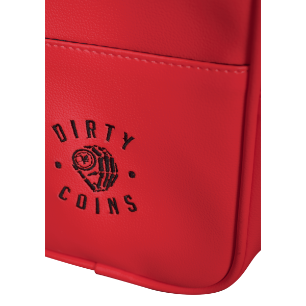 'Dirty Coins' Leather shoulder bag ( Red )