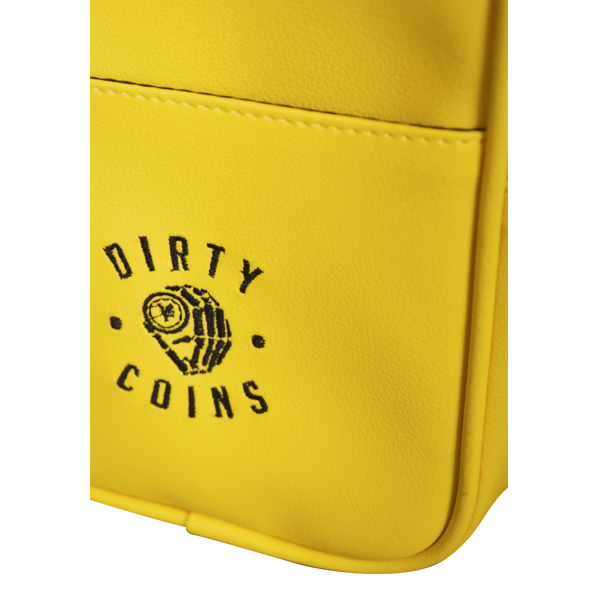 'Dirty Coins' Leather shoulder bag ( Yellow )