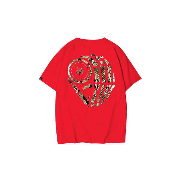 T-shirt with snake (Red)