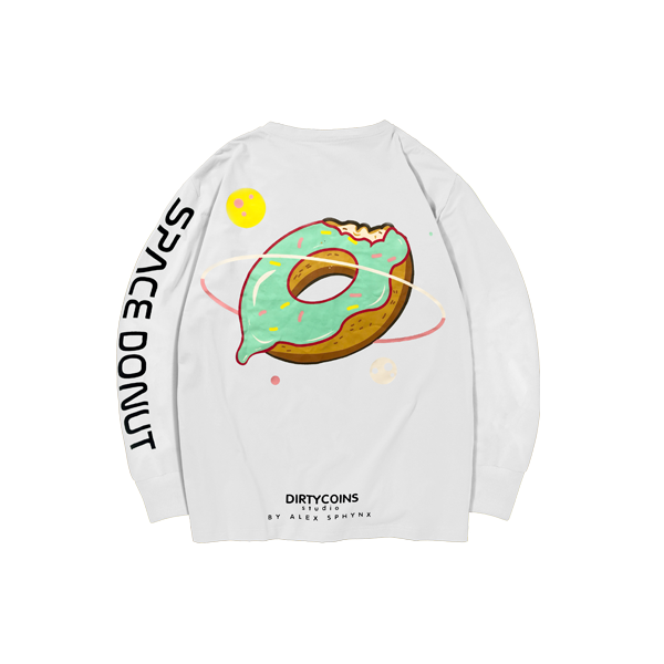 Space donut long sleeve (White)