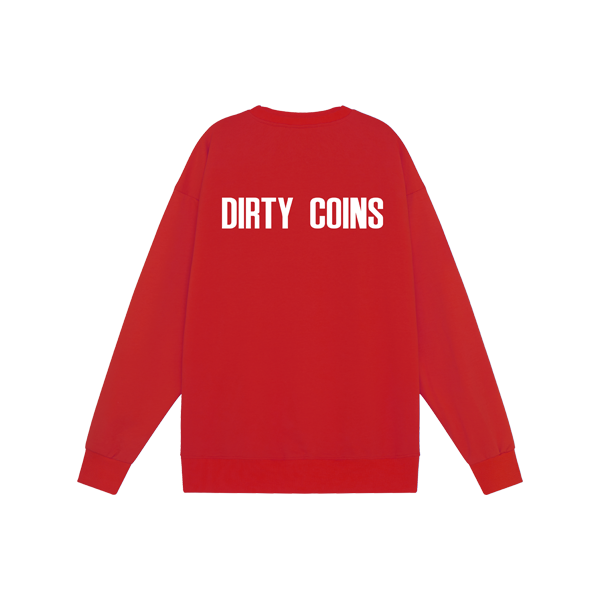 'Dirty Coins' logo sweater ( Red )