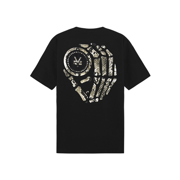 T-Shirt with snakes ( Black )