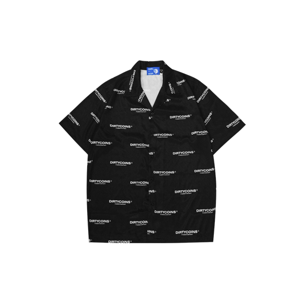 DirtyCoins Logo Pattern Shirt (Black)