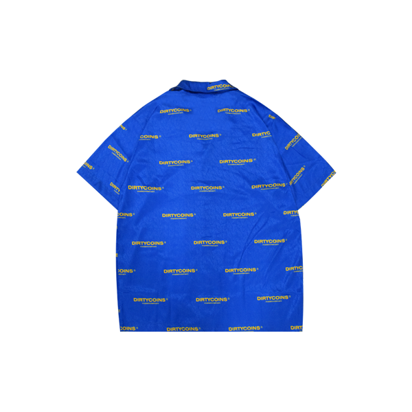 DirtyCoins Logo Pattern Shirt (Blue)