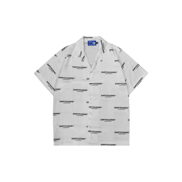 DirtyCoins Logo Pattern Shirt (White)
