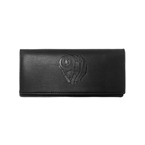 'Dirty Coins' logo long wallet
