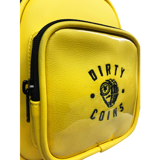 'Dirty Coins' Leather waist bag ( Yellow )