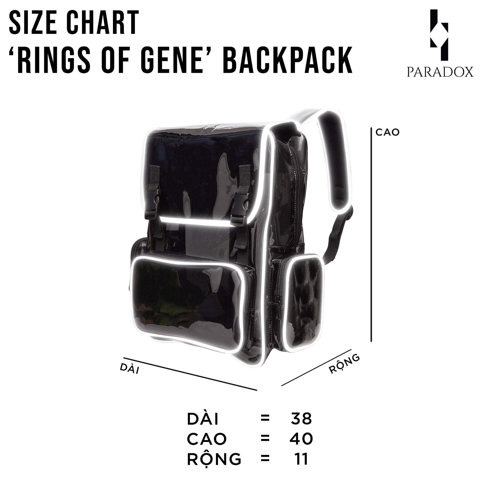 WHITE&BABY BLUE BLACK-WORDING BACKPACK